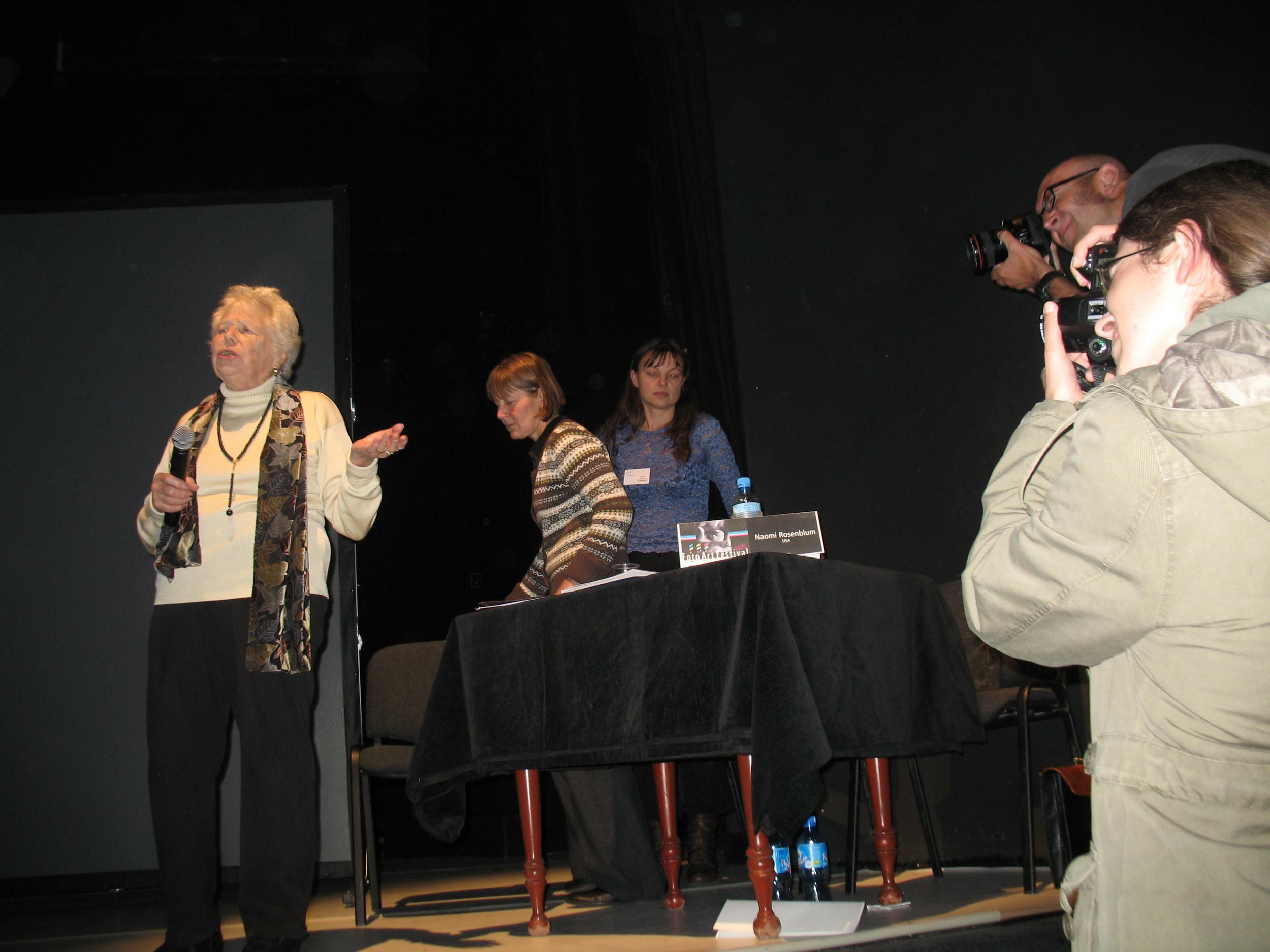 Naomi Rosenblum speaking at Foto Art Festival, Poland