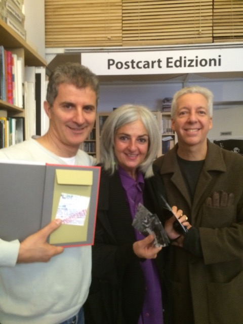 At office of Claudio Corrivetti's Poscart Edizione, Rome, November 21, 2014
