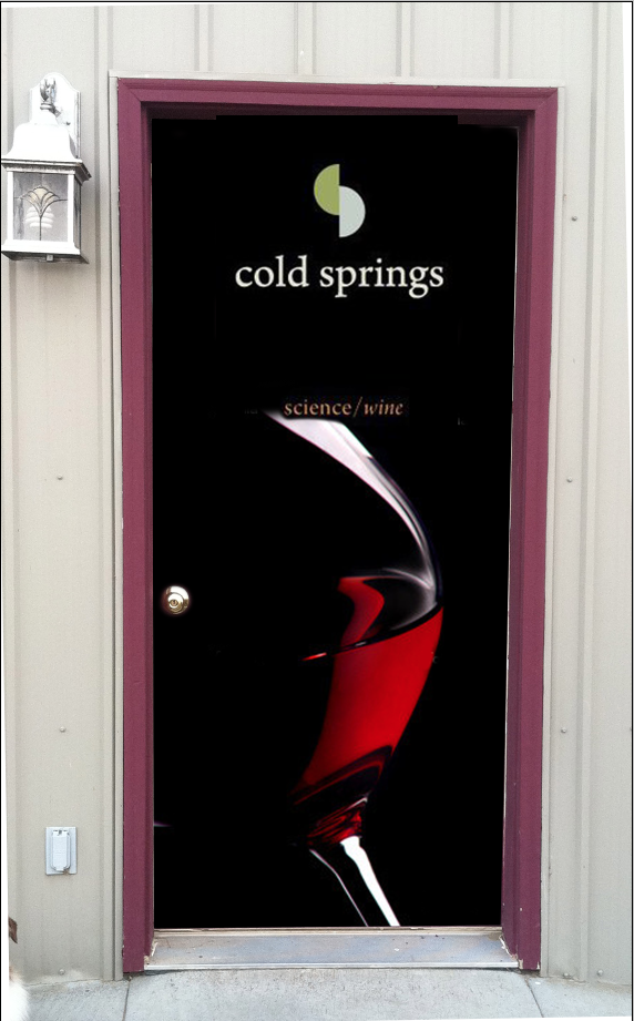 Office door wrap Cold springs winery