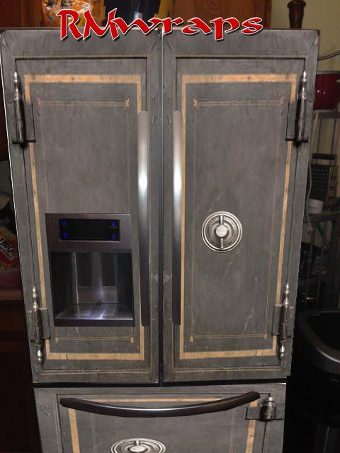 Vintage safe refrigerator wrap