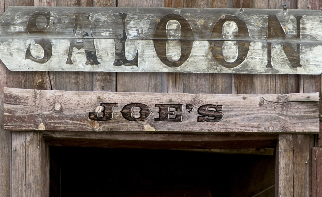 Add an extra personal touch to the door wrap. Brian wanted JOE'S name in the wood of the door way.