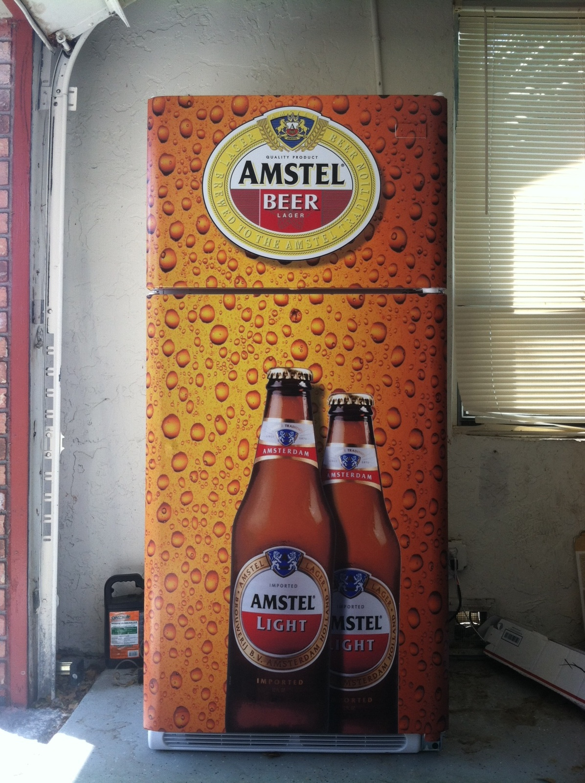 amstel light beer refrigerator wrap