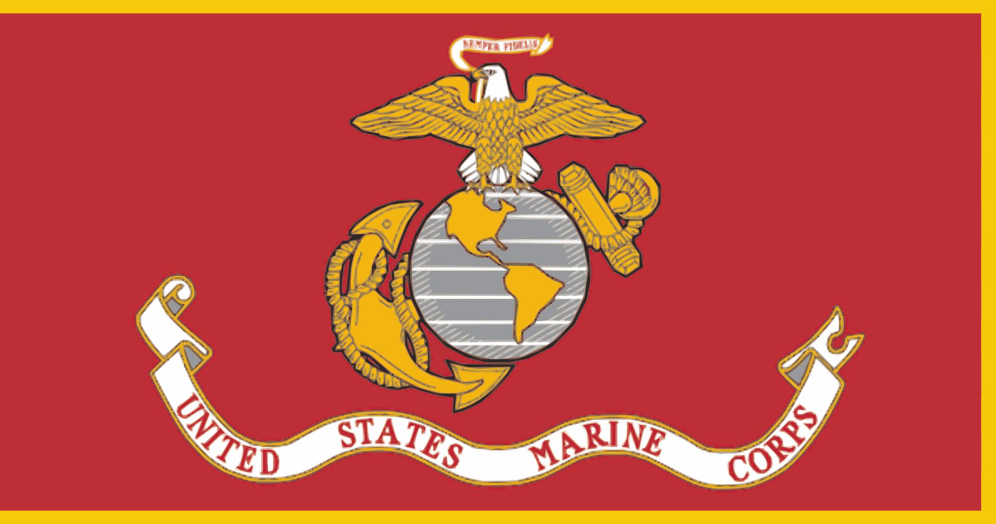 Marine Red Flag door wrap — Rm Wraps