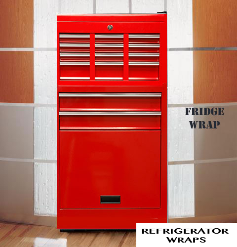Tool box red refrigerator wrap sticker