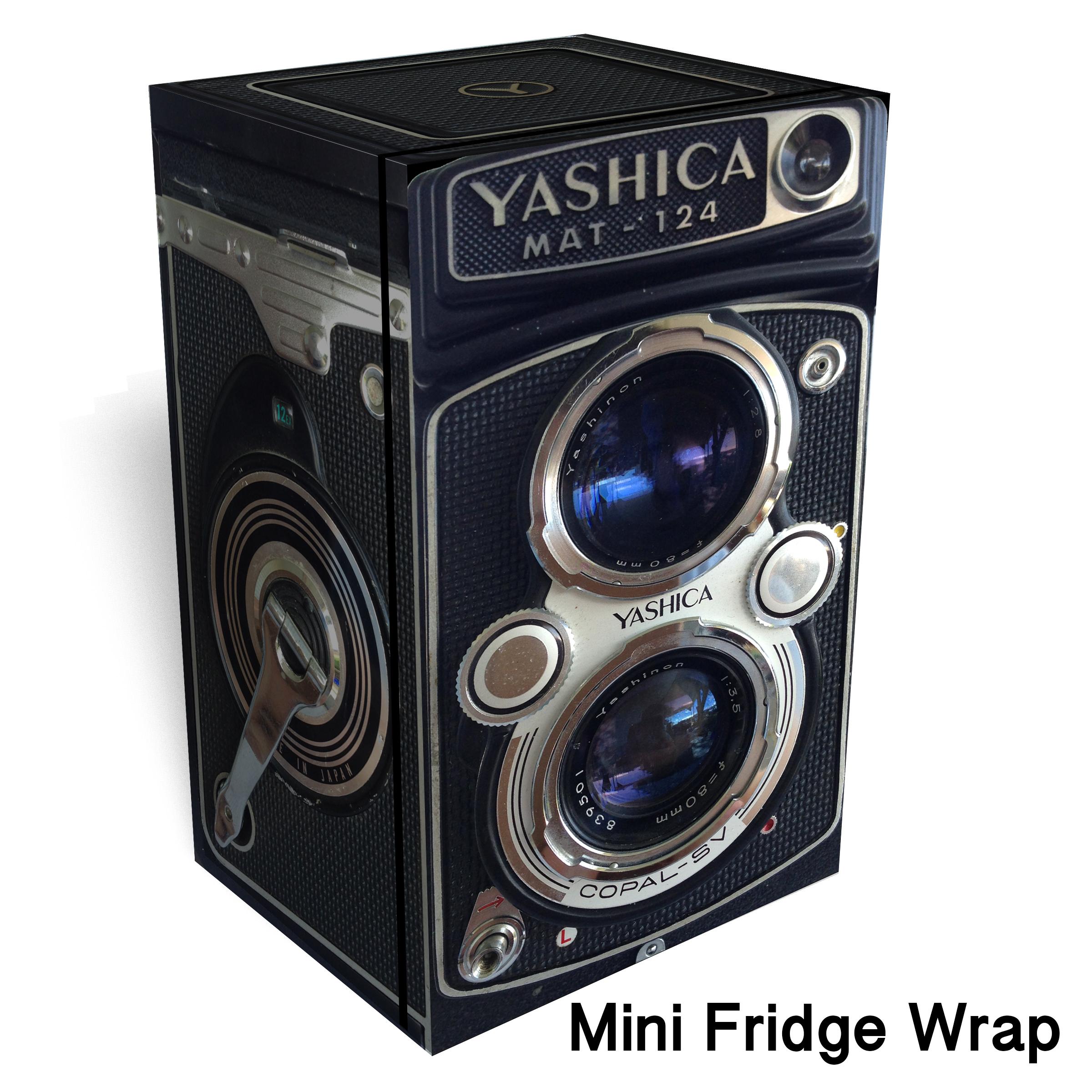 Vintage Yashica camera Mini Fridge wrap