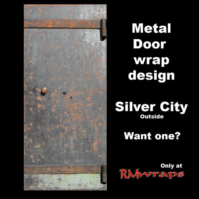 Old Rust Metal Door wrap