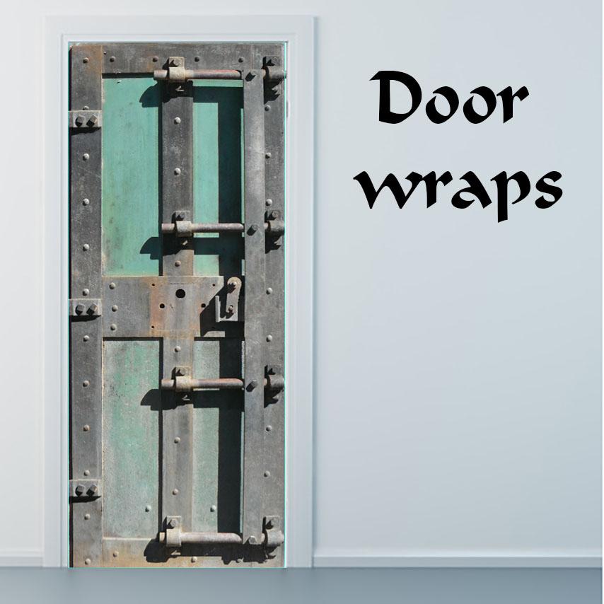 Old inside Metal Door wrap