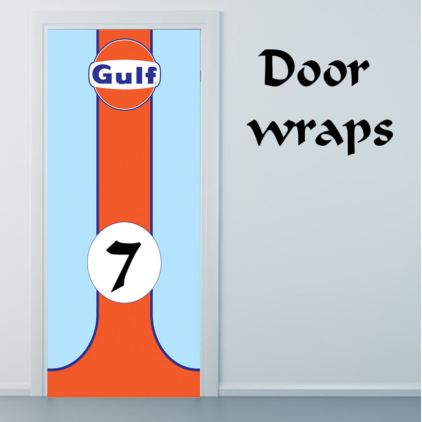 Gulf Racing Car door wrap