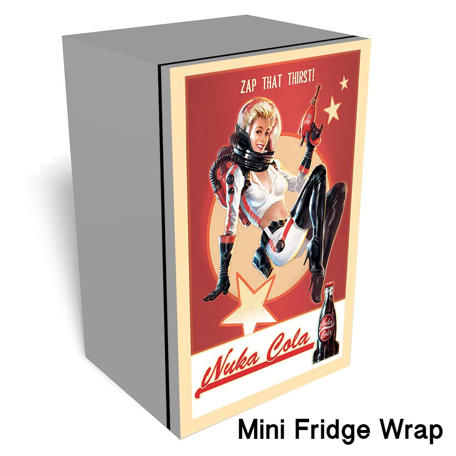 Nuke cola zap that thirst Mini Fridge wrap