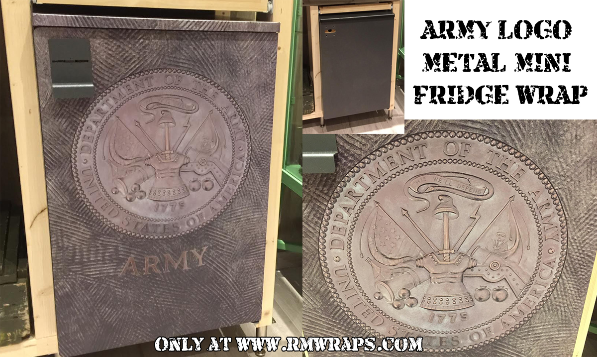 Army Logo Metal Mini Fridge Wrap