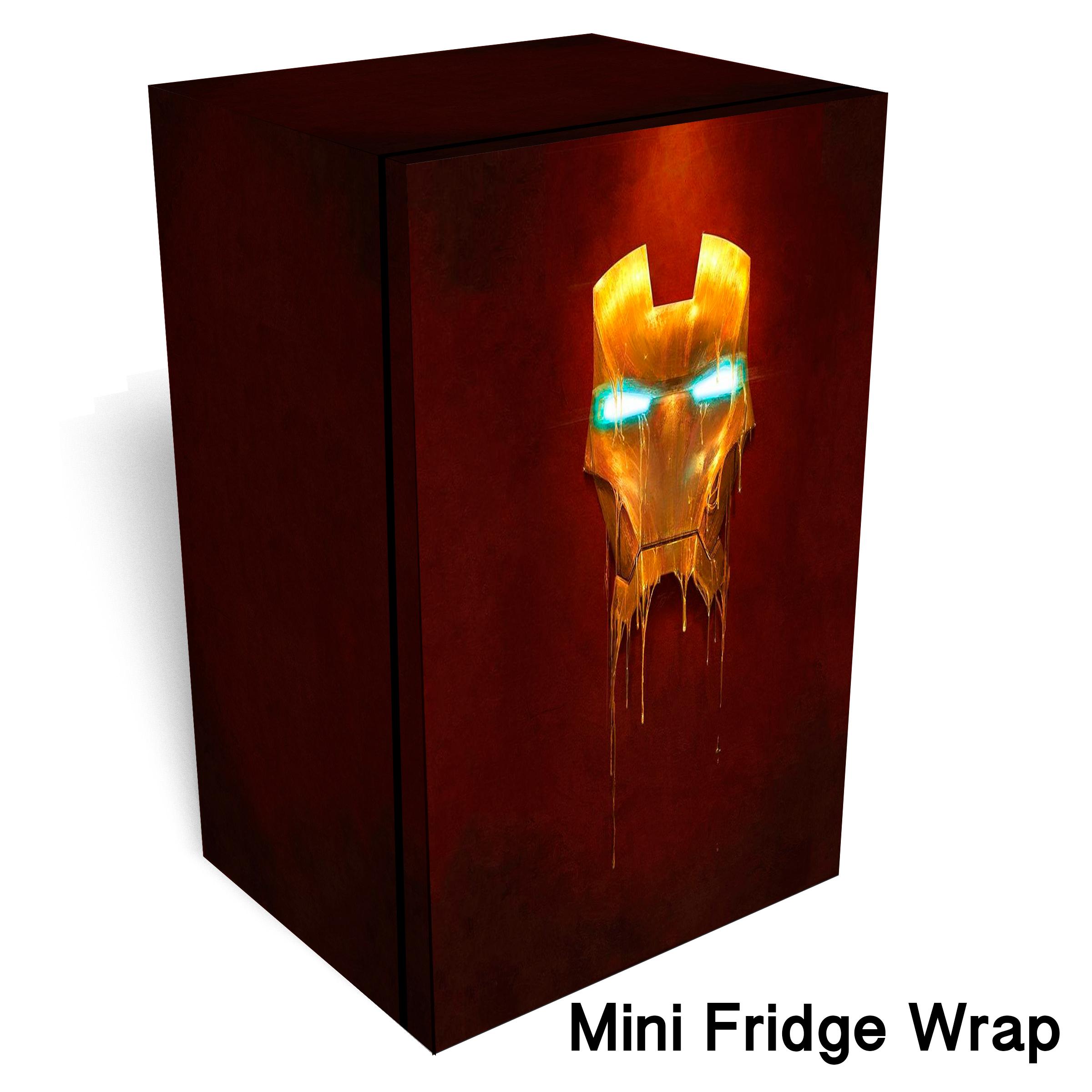 Ironman Head Mini fridge wrap