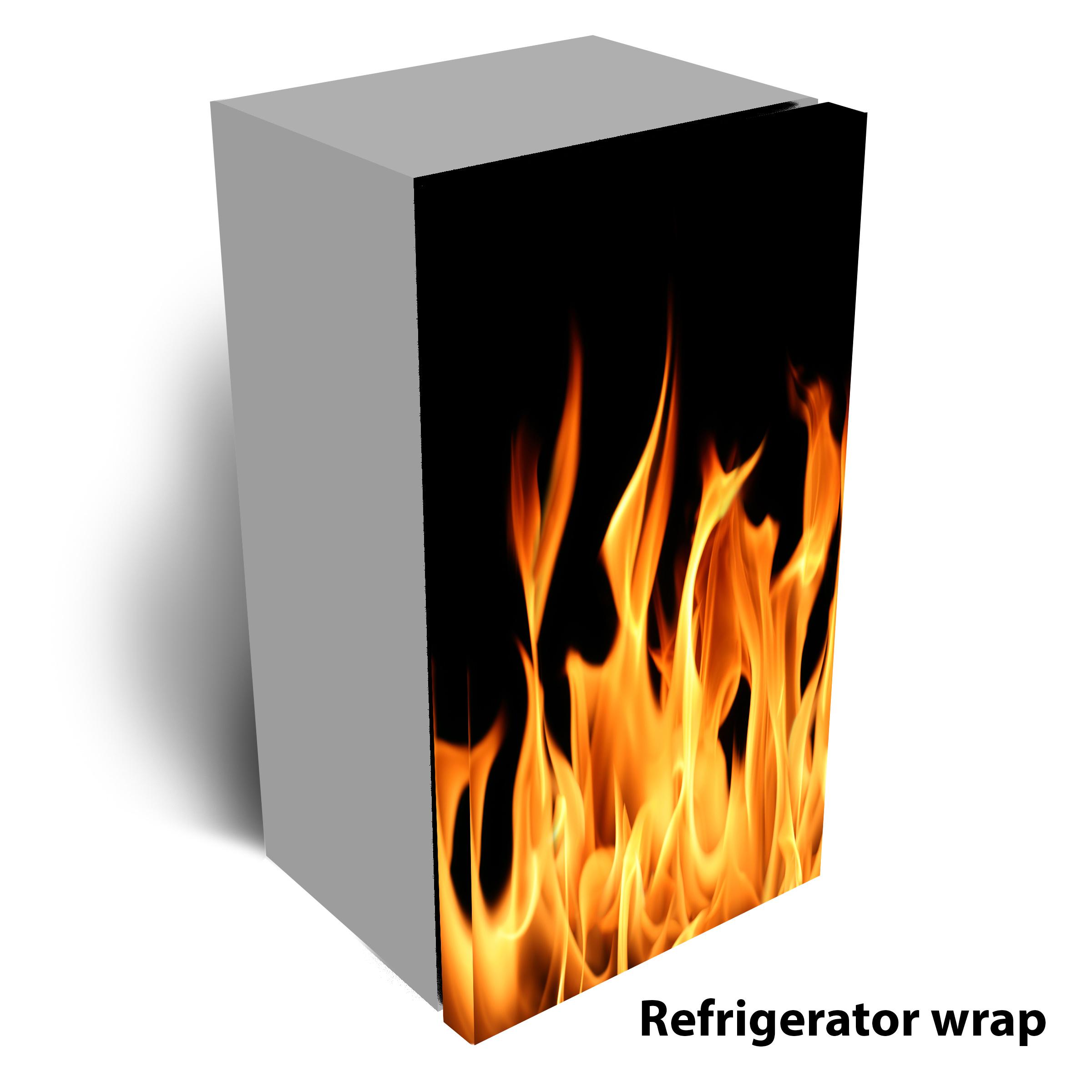 Flames Refrigerator Wrap