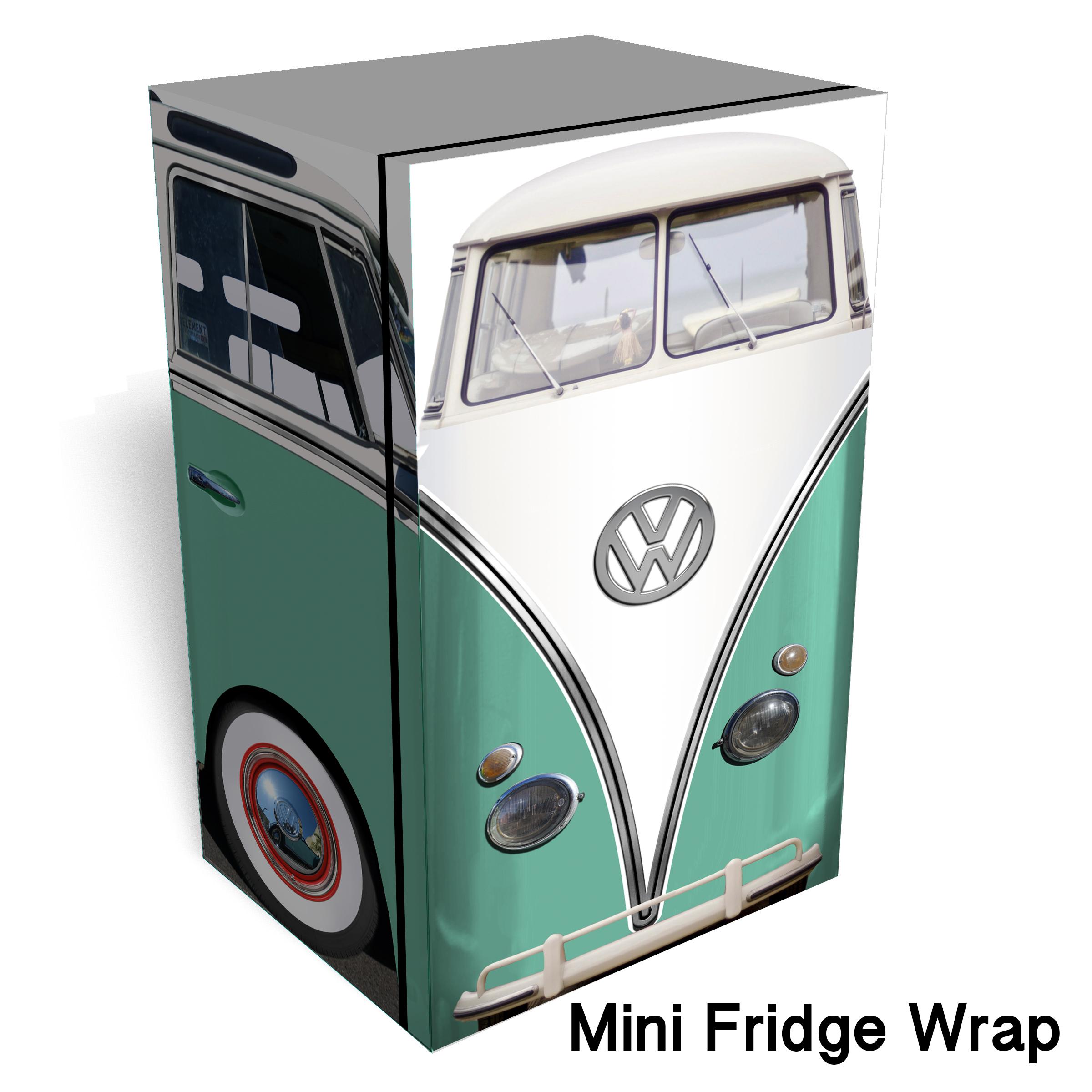 Vw Bus Mint Mini Fridge Skin Rm Wraps