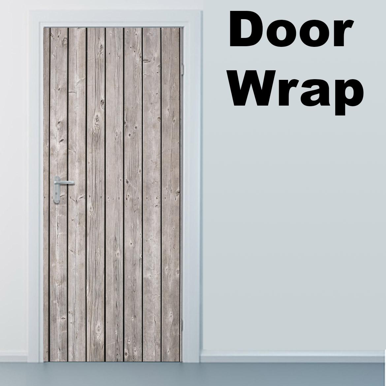 Wood planks Door wrap