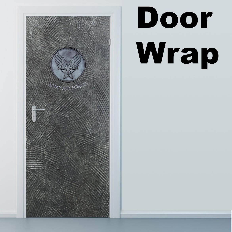 Air Force Metal with logo Door Wrap