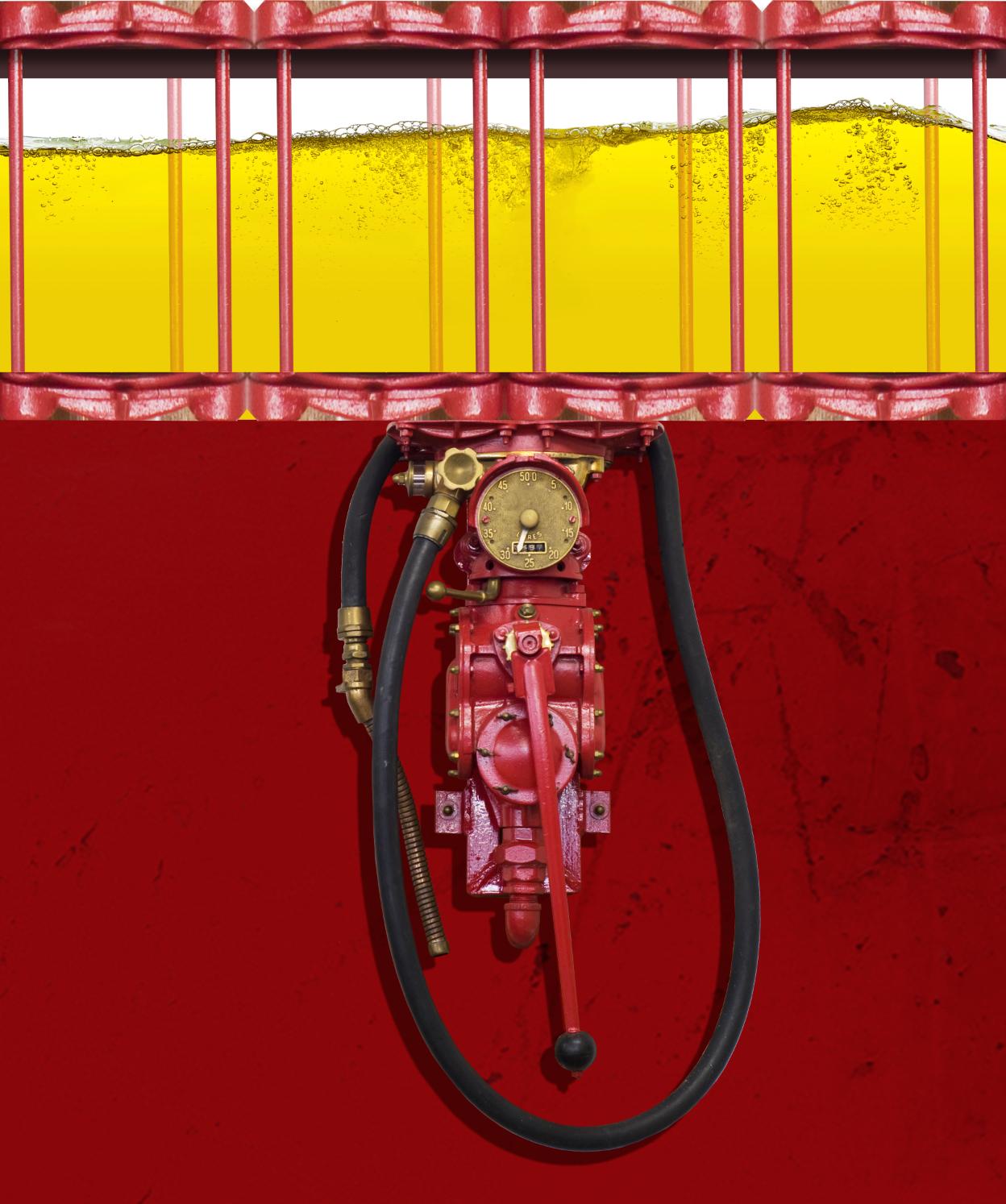 Glass Gas Pump Water Heater Wrap