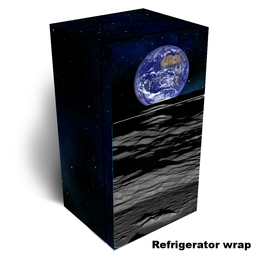 Earth on the Moon Refrigerator Wrap