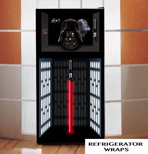 Darth vador refrigerator wrap