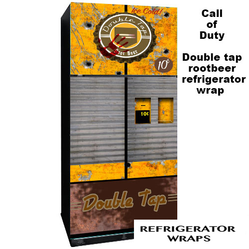 Double tap rootbeer refrigerator wrap