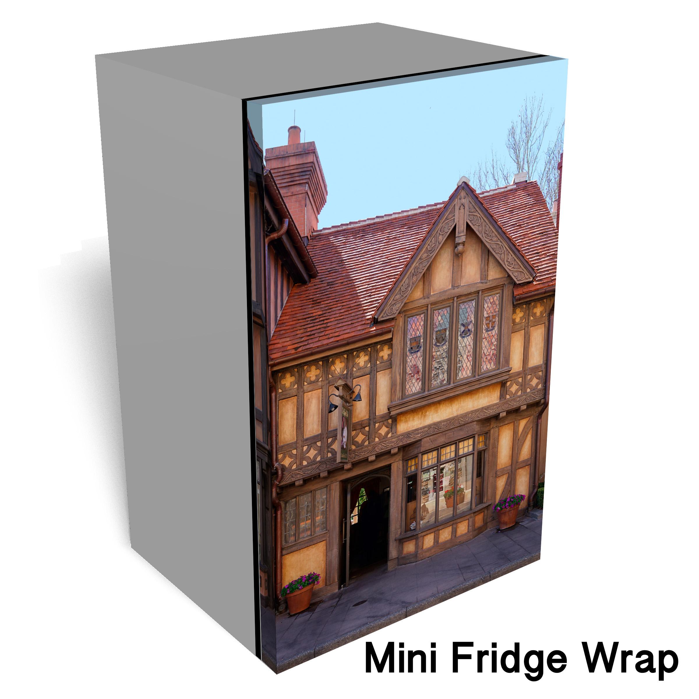 British Village Mini fridge Wrap