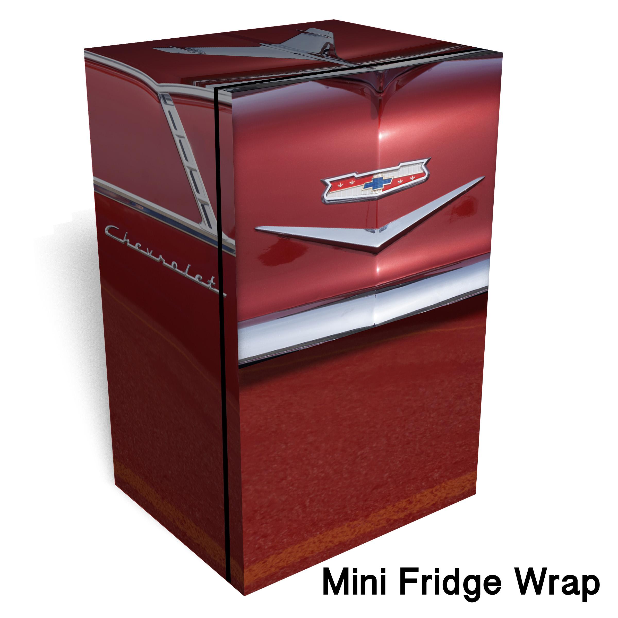 Red 1955 Chevy Mini Fridge Wrap