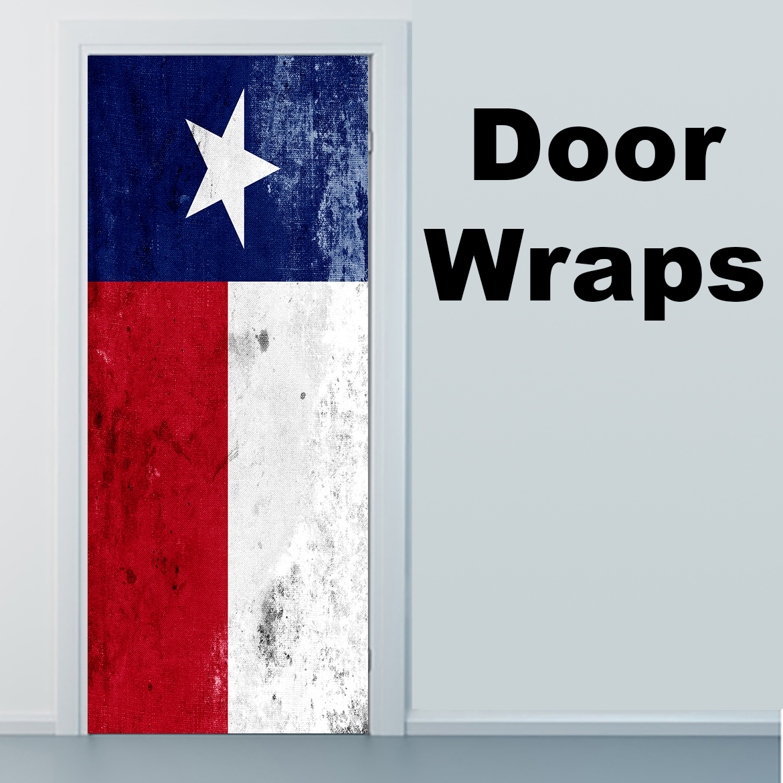 Grunge Texas State Flag Door Skin