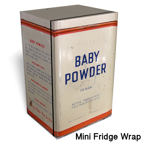Baby Powder Mini Fridge Skin