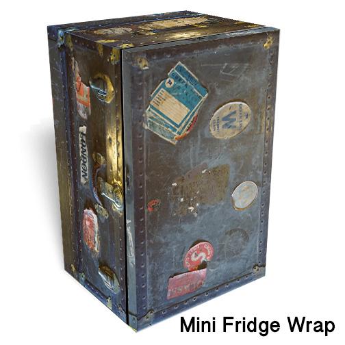 London trunk Mini Fridge Skin