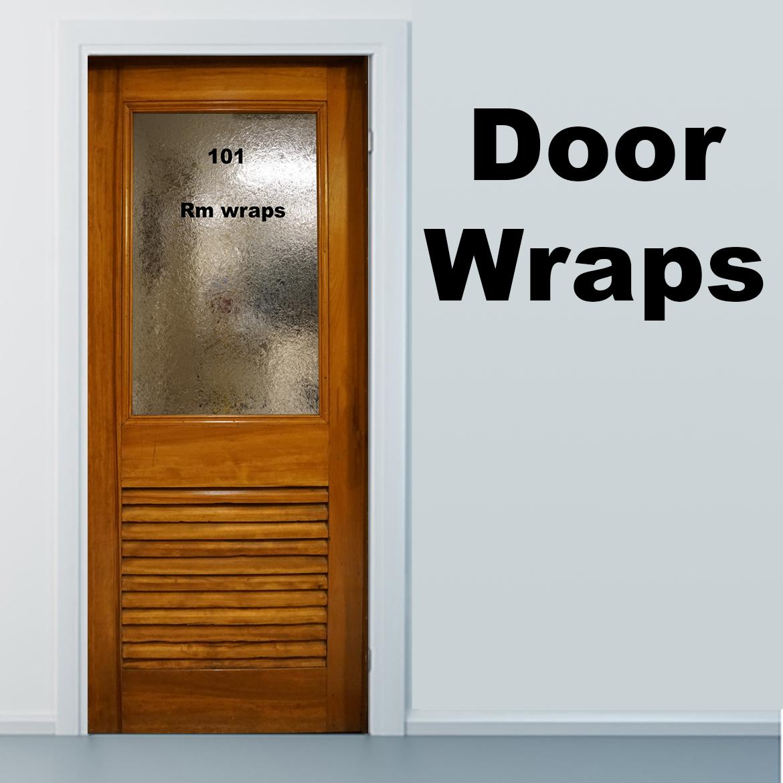 Private Eye door, Rm wraps, Door wraps, Door covers, Door art, Door sticker, Door vinyl, Door mural