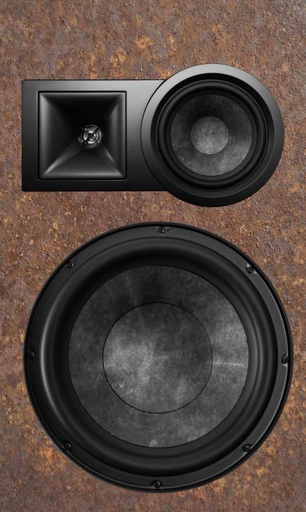 Heavy Metal Speaker Mini Fridge Wrap Front