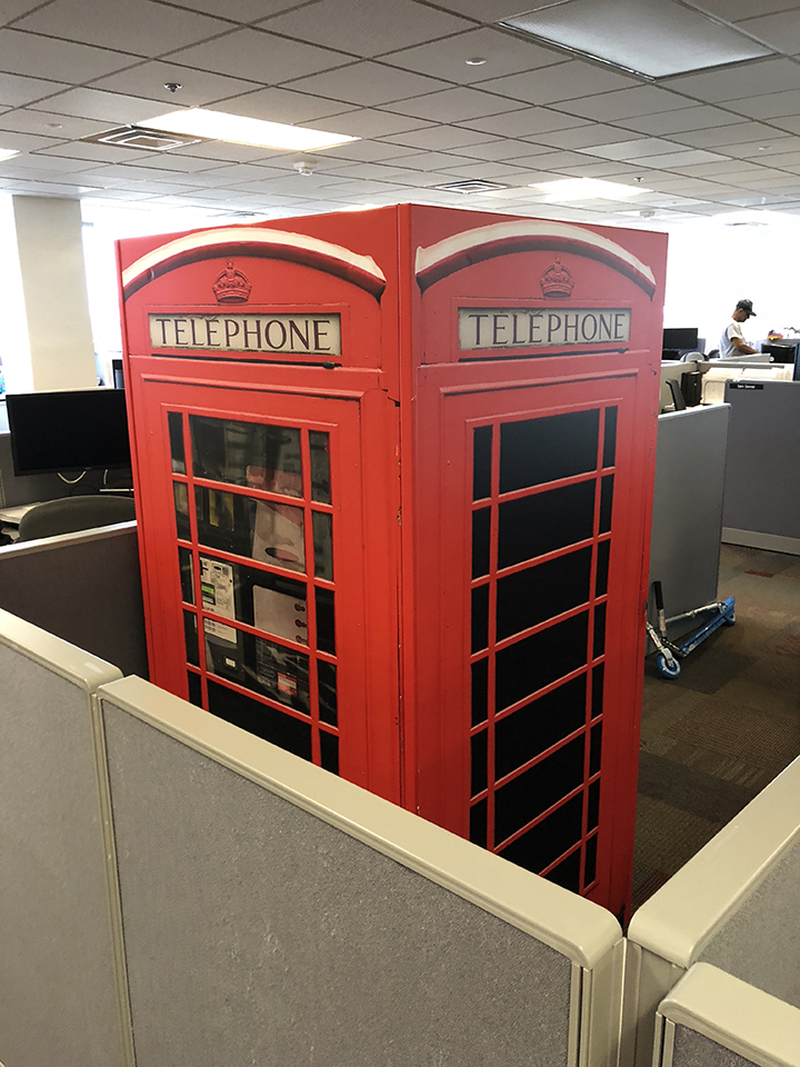 British Red Phone Booth Wrap