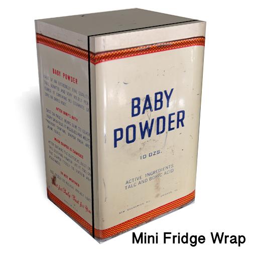 Baby Powder Mini Fridge Wrap