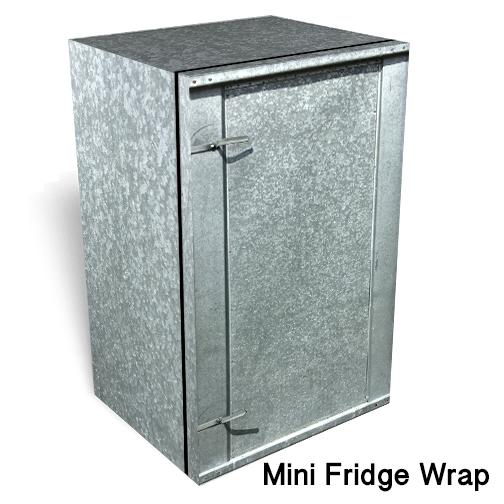 Galvanized steel Mini fridge skin