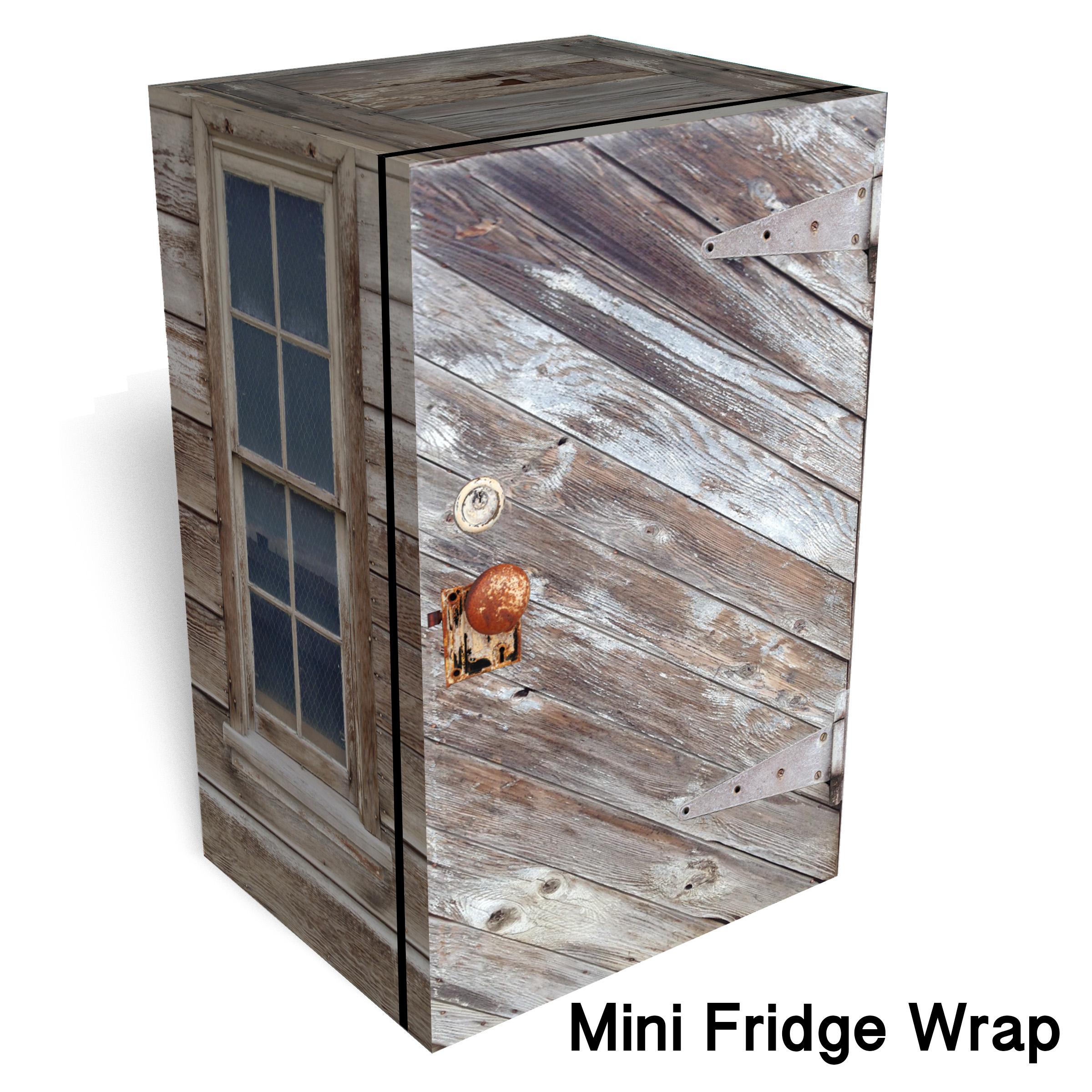 Ghost Town Shed Mini Fridge Wrap