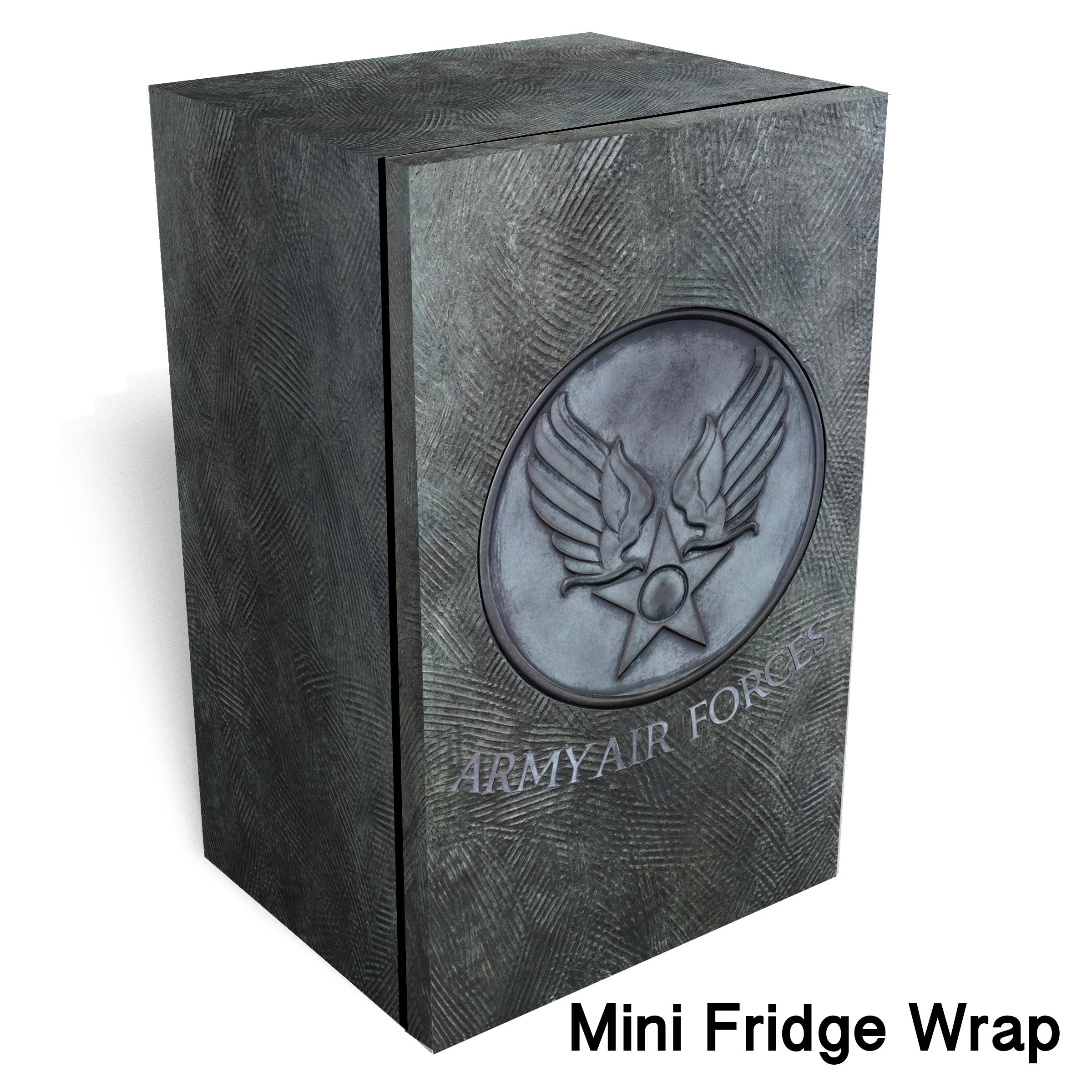 Army air forces Metal logo mini fridge wrap