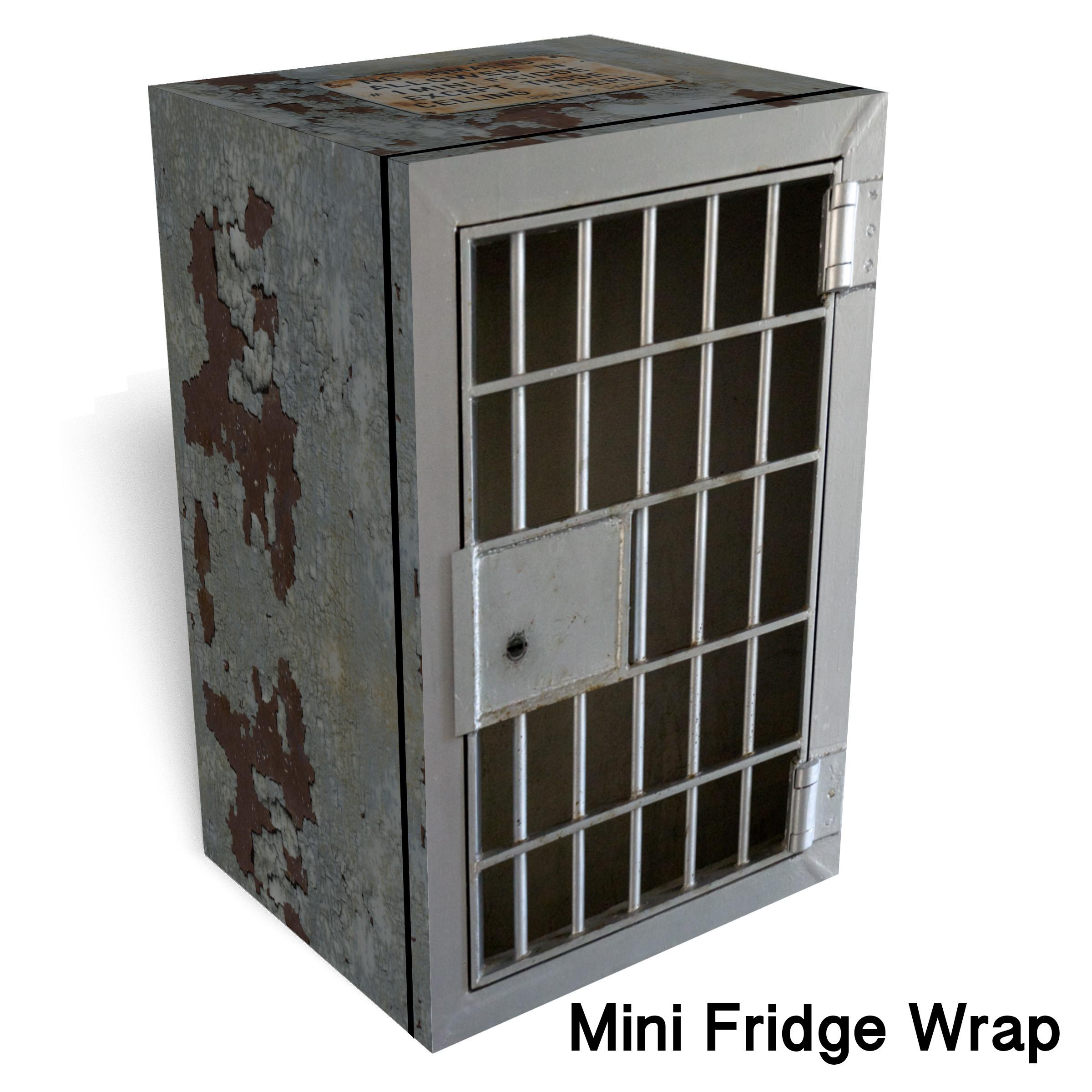 No Inmates Mini Fridge Wrap