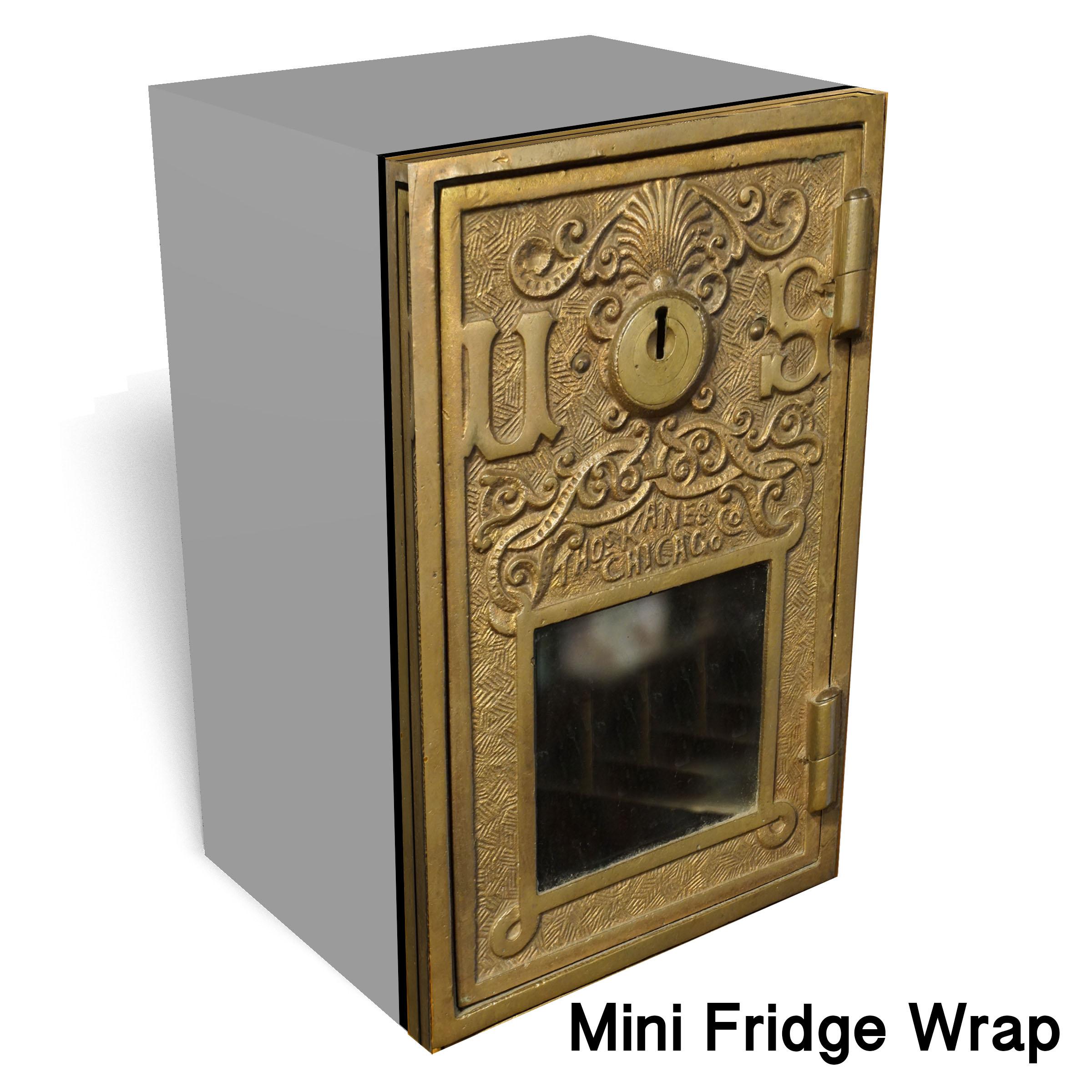 Post office box Mini fridge wrap
