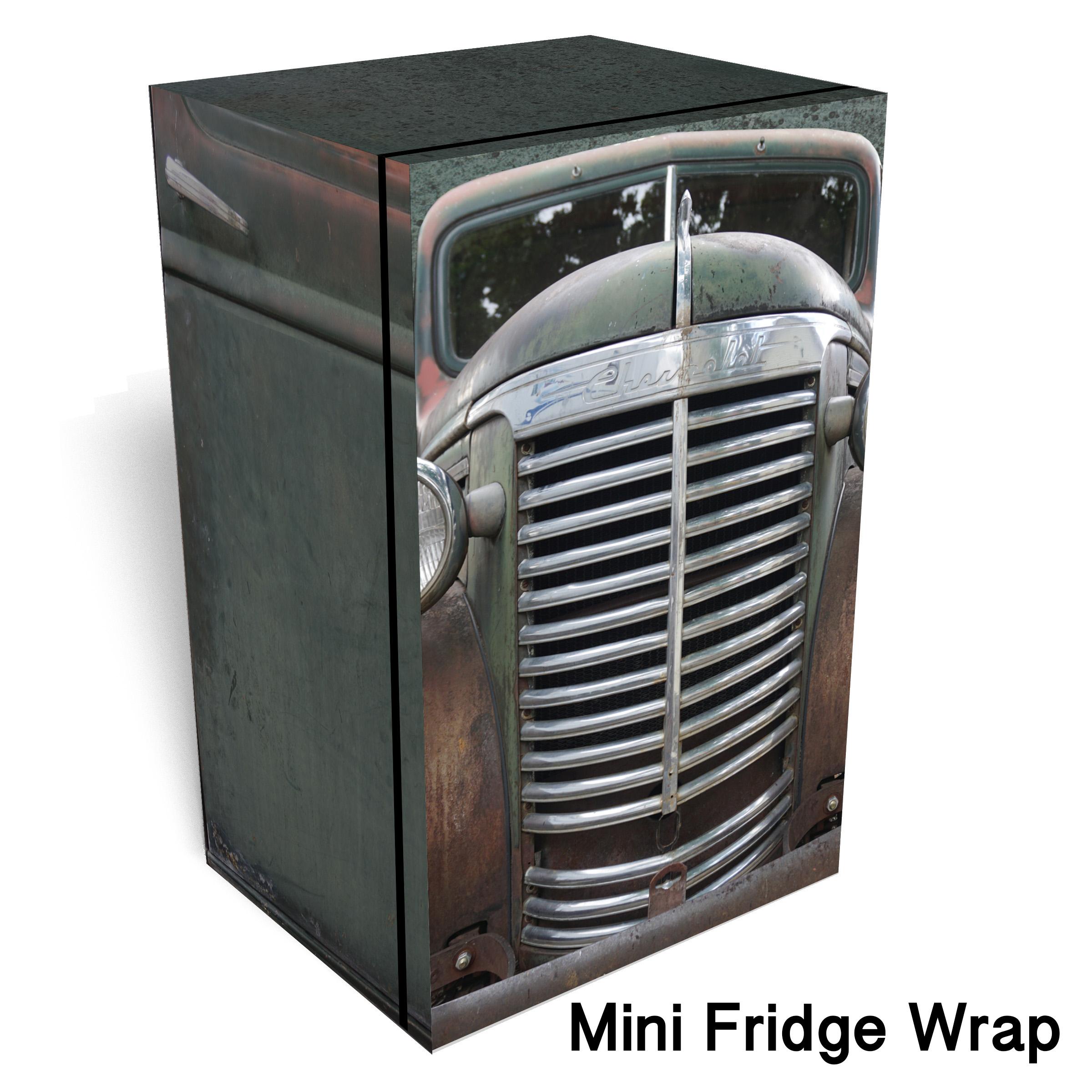Rustic Green Chevrolet Mini Fridge Wrap