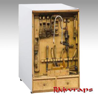 Old tool box mini fridge
