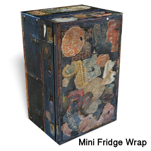 Traveling trunk mini fridge skin 2