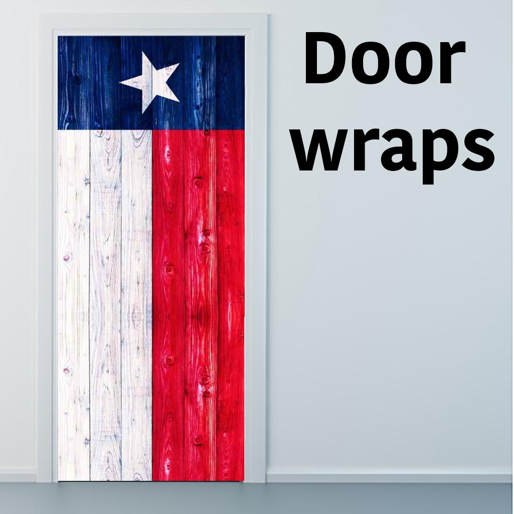 Texas Flag wooden Door wraps