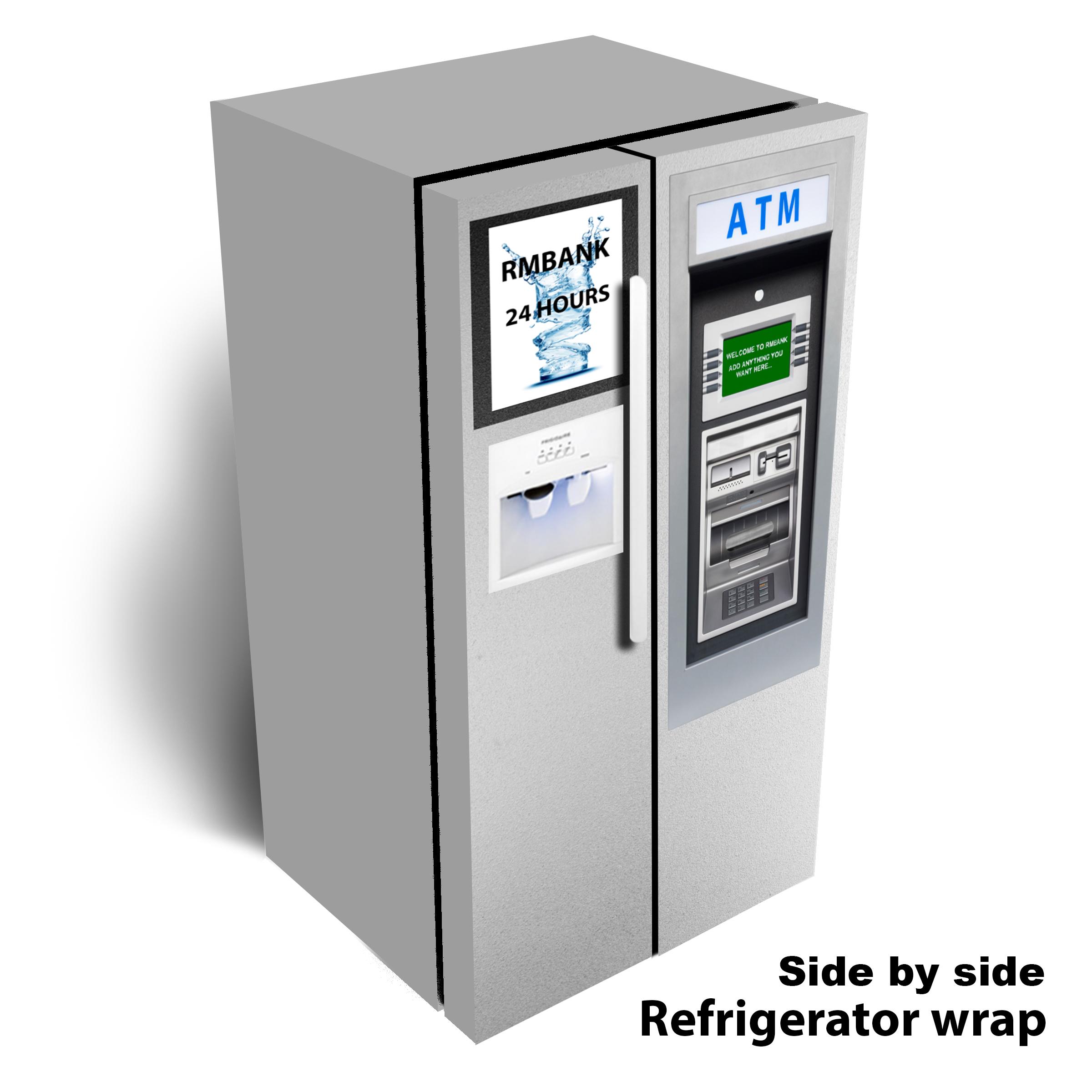 ATM Machine Side by Side Refrigerator Wrap
