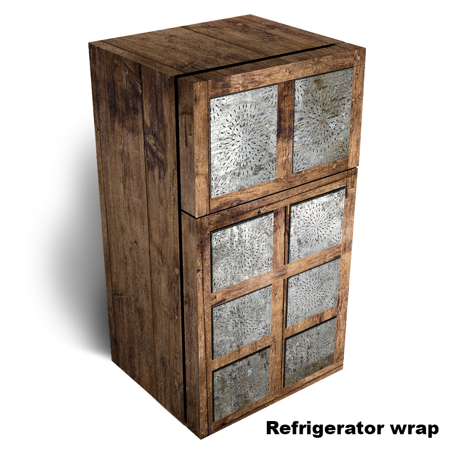 Tin Pie Refrigerator wrap, Punched Tin Pie Safe