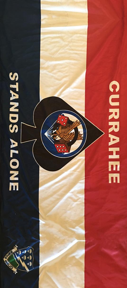 Currahee Stands Alone Flag Door Wrap