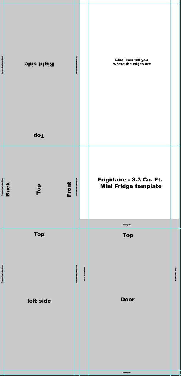 Frigidaire - 3.3 Cu. Ft. Mini Fridge Template