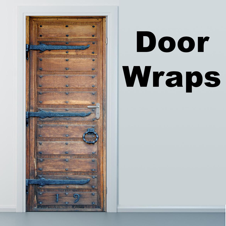 Holztür, Door Wrap, right side, Rm wraps, Wooden door, Rustic door, Iron hinges