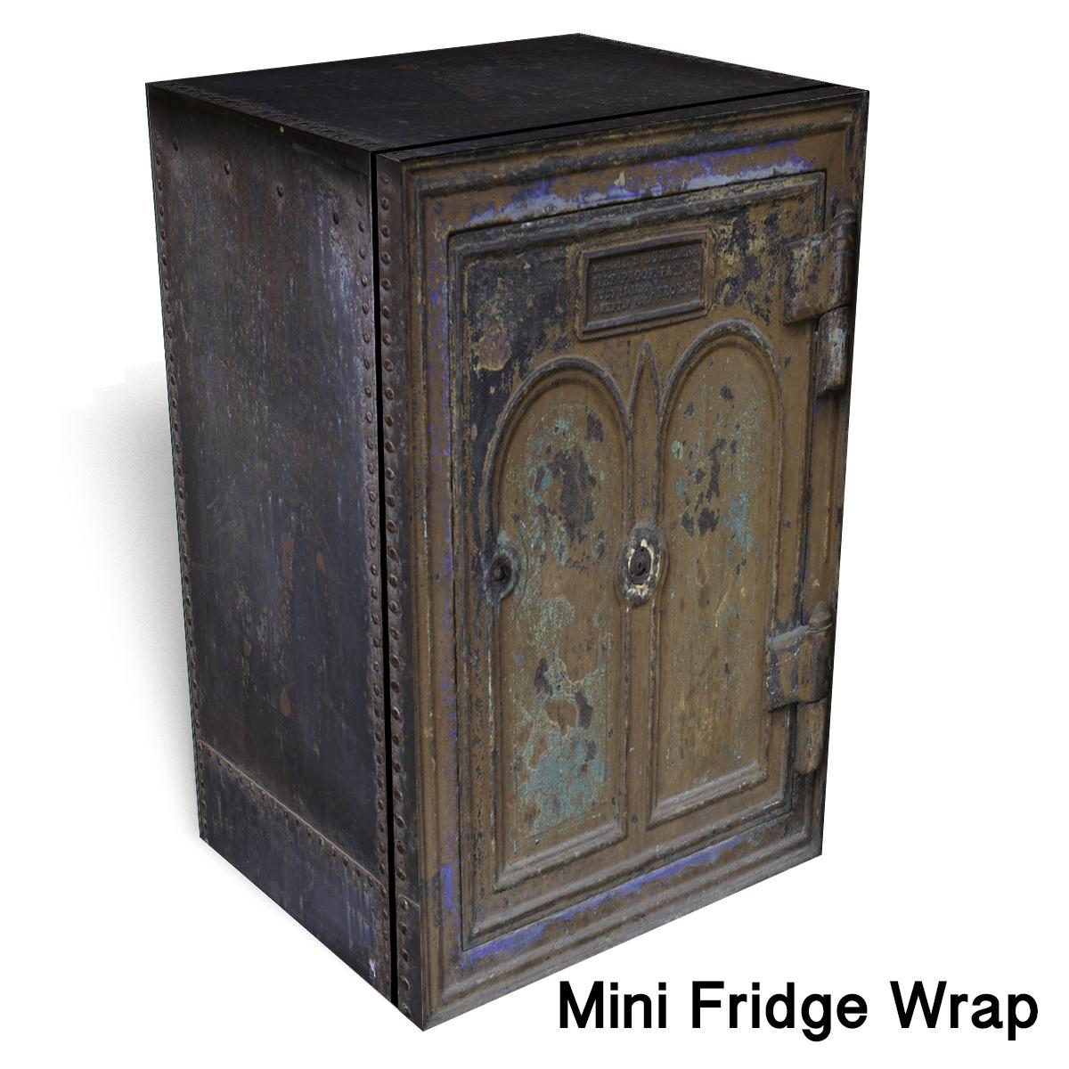 IC 2 Vintage Safe Mini Fridge Wrap