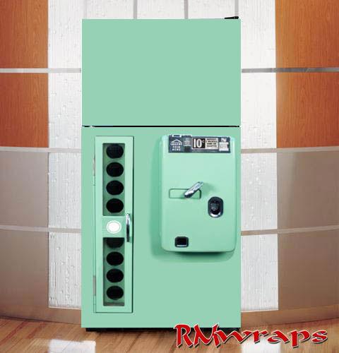Vintage Green Vending Machine Refrigerator Wraps