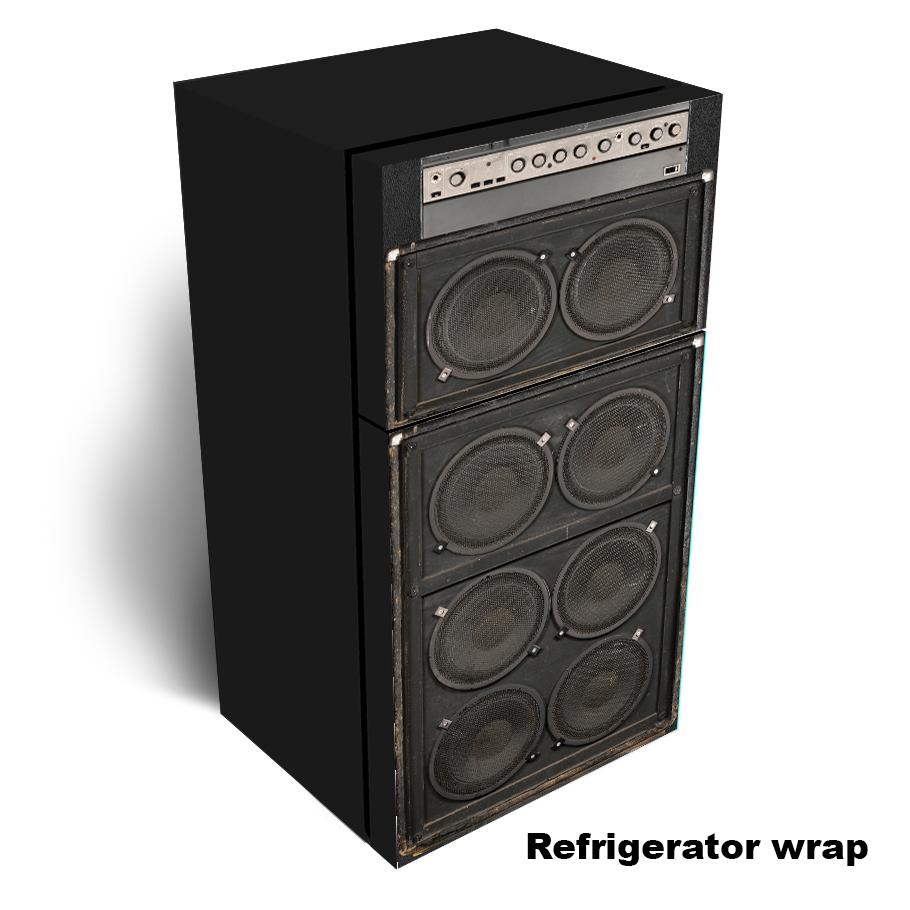 Amplifier speaker Refrigerator wrap