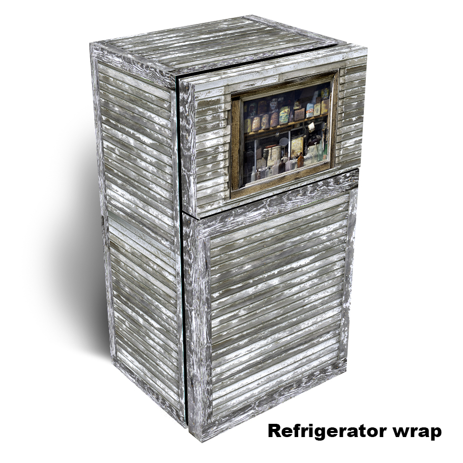 Time Passages Window Refrigerator Wrap 1